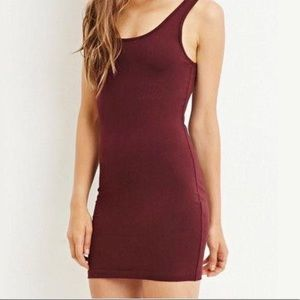 Forever 21 Maroon bodycon dress
